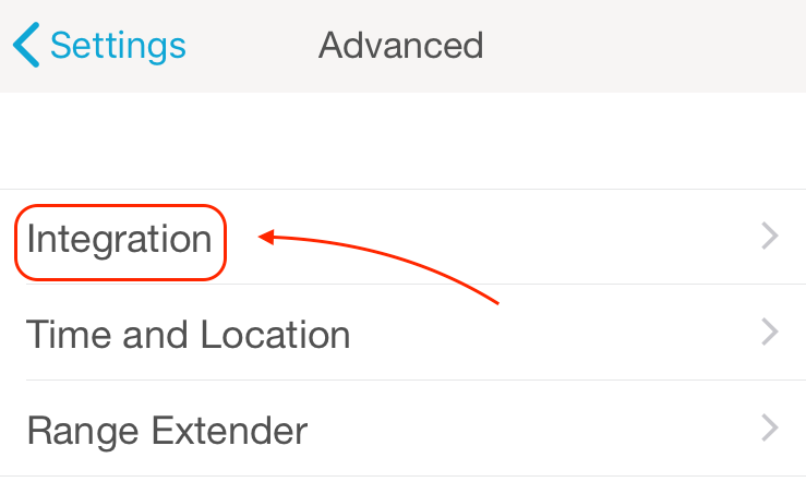 Lutron app Integration settings.png