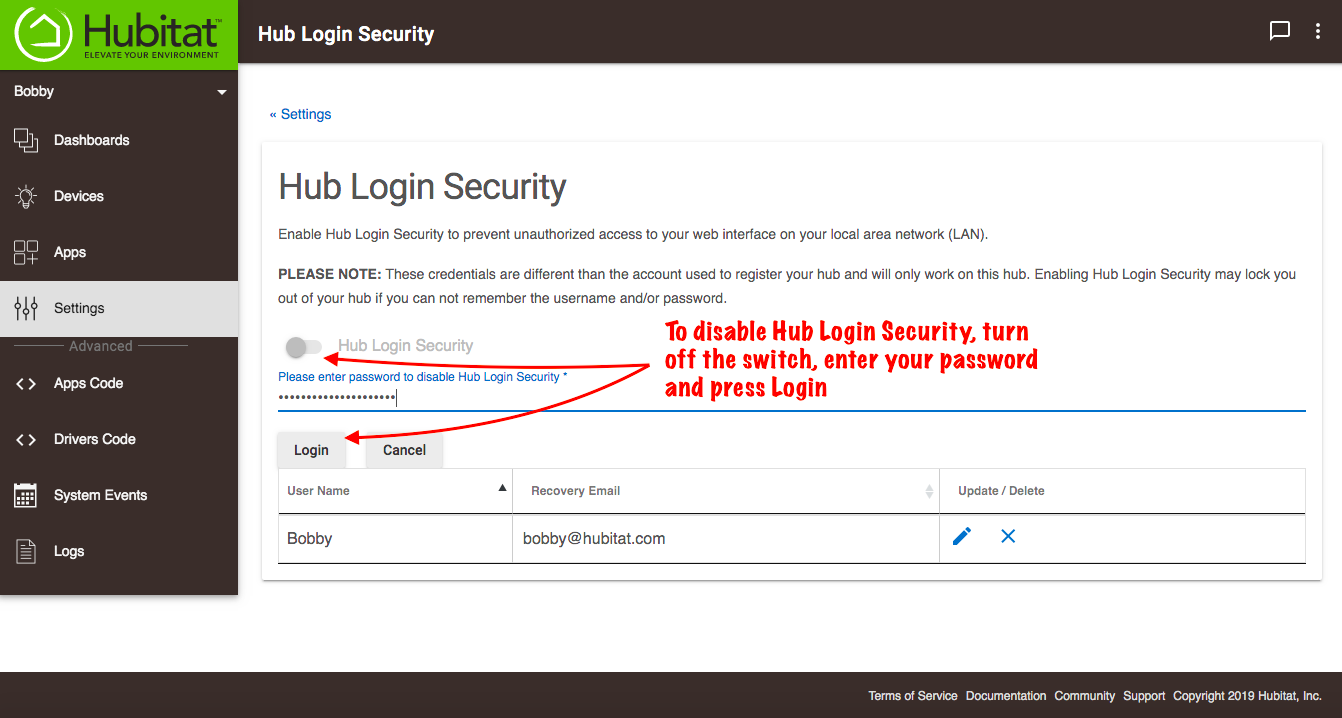 Disable Hub Login Security.png