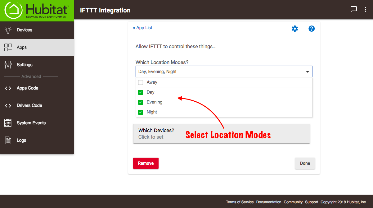 IFTTT Integration - Hubitat Documentation